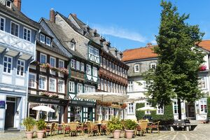 Half-timbered houses, Goslar, UNESCO World Heritage Site, Harz, Lower Saxony, Germany