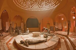 Hammam Al-Basha bath house, Akko, Israel, Middle East