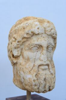 Head of a statue, Archaeological Museum, Delos, UNESCO World Heritage Site