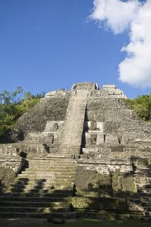 High Temple (Structure N10-43), the highest temple at the Mayan site at Lamanai