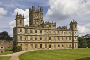 Highclere Castle, home of the Earl of Carnarven, the 5th Earl being famous for archaeological