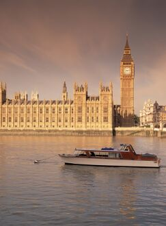 Houses of Parliament and the River Thames, Westminster, London, England