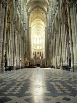 Interior of Amiens cathedral, Amiens, UNESCO World Heritage Site, Nord, France, Europe