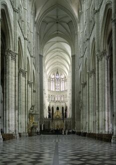 Interior, Notre Dame Cathedral, UNESCO World Heritage Site, Amiens, Picardy, France, Europe