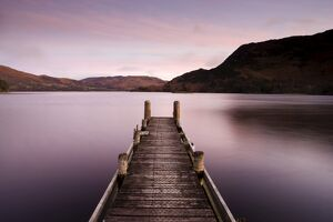 Jetty on Ullswater at dawn, Glenridding Village, Lake District National Park