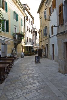 Little alley in Porec, Istria, Croatia, Europe