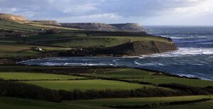 Looking east across Kimmeridge Bay towards St. Aldhelm's Head, Isle of Purbeck