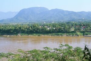 Looking east across the Mekong River