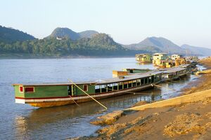 Looking north up the Mekong River