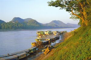 Looking North Up Mekong River