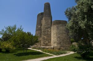 Maiden Tower in the center of the Old City of Baku, UNESCO World Heritage Site