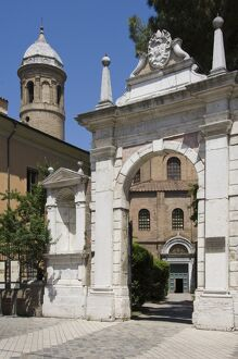 The main gateway, Chiesa di San Vitale, UNESCO World Heritage Site, Ravenna