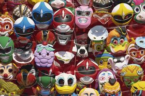 Masks for carnival, Santo Domingo, Dominican Republic, West Indies, Central America