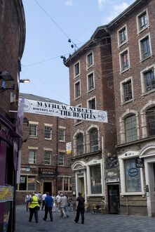 Matthew Street, site of the original Cavern Club where the Beatles first played