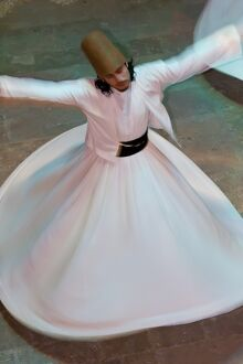mevlevi whirling dervishes performing sema