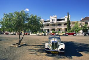 MG car at Lord Milner Hotel
