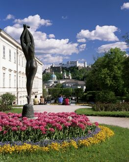 Mirabell Gardens and the Old city, UNESCO World Heritage Site, Salzburg, Austria, Europe