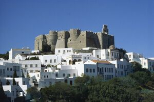 Monastery of St. John, Patmos, Dodecanese, Greek Islands, Greece, Europe