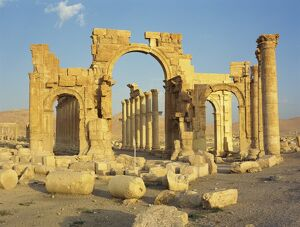 The Monumental Arch, at the ancient Graeco-Roman city of Palmyra, UNESCO World Heritage Site