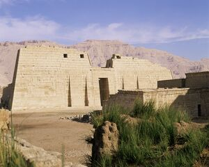 Mortuary temple of Ramses III, Medinet Habu, Thebes, UNESCO World Heritage Site