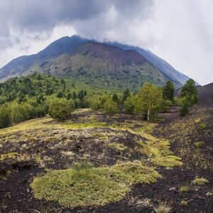 mount etna volcano old lava flow eruption unesco