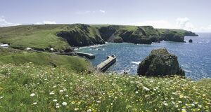 Mullion Cove and the Cornish coast, Cornwall, England, United Kingdom, Europe