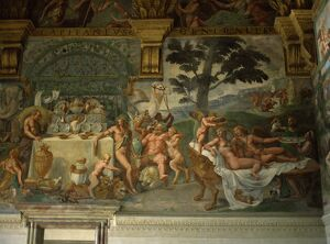 Murals of Psyche's passion for Cupid in the banqueting hall, Palazzo Te