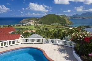 New luxury housing overlooking Frigate Bay on southeast peninsula, St. Kitts