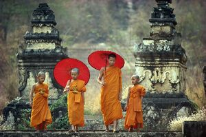 novice buddhist monks