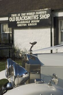 Old Blacksmith's Shop with 1937 Rolls Royce