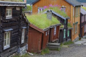 old mining town roros sor trondelag county gauldal