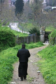 Orthodox monk on Mount Athos, Greece, Europe