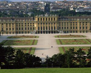 Palace and gardens of Schonbrunn, UNESCO World Heritage Site, Vienna, Austria, Europe