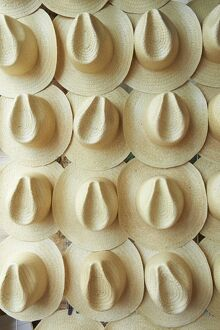 Panama hats for sale, Campeche, Mexico, North America
