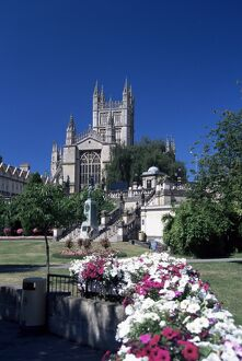 Parade Gardens and the Abbey, Bath, UNESCO World Heritage Site, Somerset