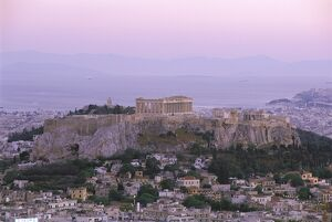 The Parthenon and Acropolis from Lykavitos