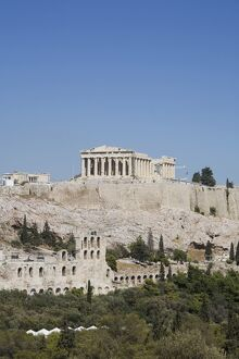 The Parthenon temple and Acropolis, UNESCO World Heritage Site, Athens, Greece, Europe