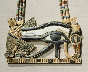 Pectoral of the sacred eye flanked by the serpent goddess of the North