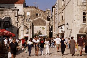 Pedestrian area, Diocletian's Palace, UNESCO World Heritage Site, Old Town