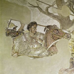Pompeii mosaic of Alexander the Great dating from 1st century BC