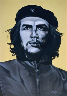 Portrait of Che Guevara, Havana, Cuba, West Indies, Central America