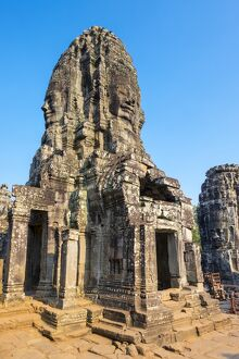 Prasat Bayon temple ruins, Angkor Thom, UNESCO World Heritage Site, Siem Reap Province