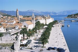Promenade of the medieval town of Trogir, UNESCO World Heritage Site, north of Split