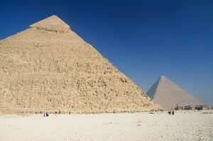 ROBERTS PAINTING ART REAL CANVAS PRINT CHEOPS CHEPREN GREAT PYRAMIDS OF EGYPT D