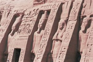 Queen Nefertari's Temple, dedicated to Hathor, Abu Simbel, UNESCO World Heritage Site