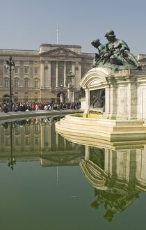 Reflections, Buckingham Palace, Queen Victoria Monument fountain, London