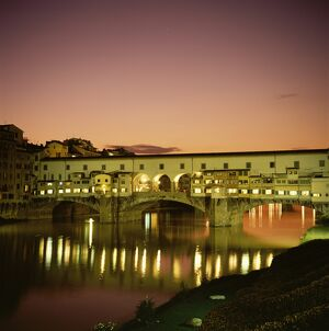 Reflections of the Ponte Vecchio dating from 1345