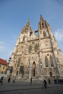 Regensburg Cathedral dedicated to St. Peter, UNESCO World Heritage Site