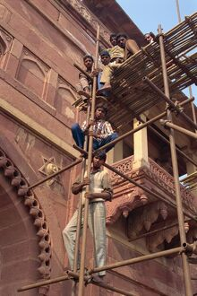 Repairs at Fatehpur Sikri