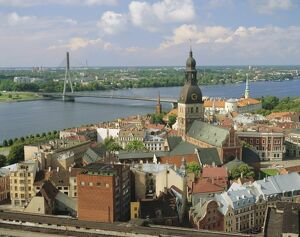 Riga and River Daugava